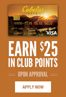 Sign-up for a Cabela's CLUB Visa